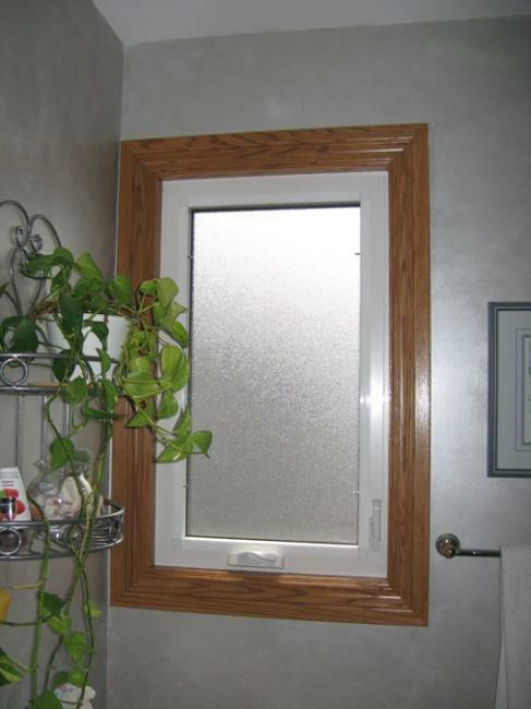 Bathroom Casement Window With New Oak Trim Gnhe Windows