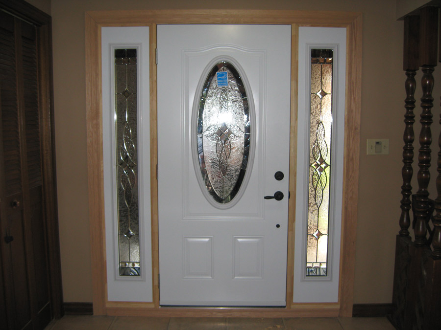 Front Entrance System With Interior Wood Trim Gnhe