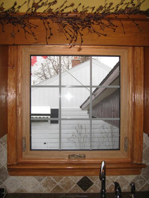 Awning Window Over Kitchen Sink Oak Trim Gnhe 289 362 2644 Window And Door Replacement