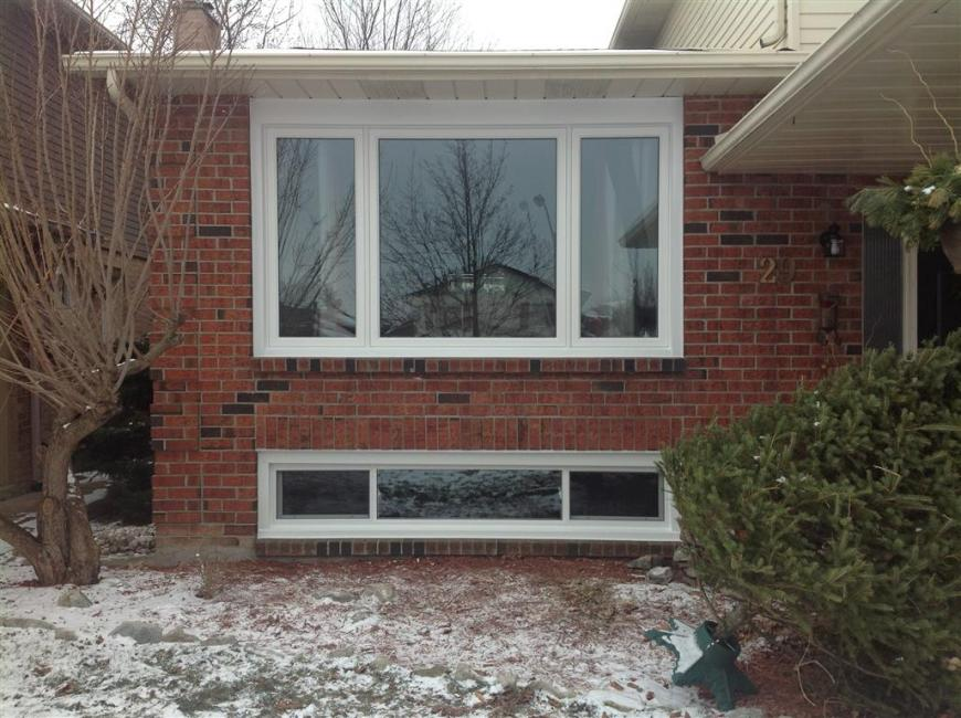 Front Picture Window With End Vent Below Gnhe Windows